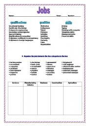 Worksheets Job Skills Worksheets english teaching worksheets jobs and skills