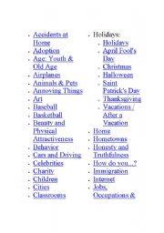 English Worksheets: english topics
