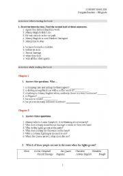 English Worksheets: JONHY ENGLISH (film or book)
