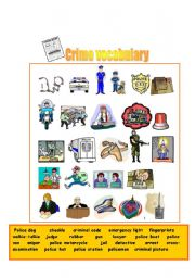 English Worksheet: Crime vocabulary