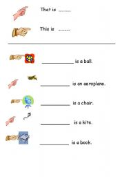 English Worksheets: That is / This is