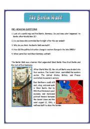 Berlin Wall Worksheet - Khayav