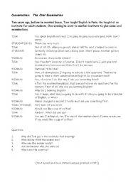 English worksheet: Conversation: The Oral Examination