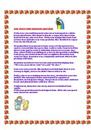 English Worksheets: The Boy and the Parrot