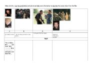 English Worksheets: Writing activity on the film Papparazi