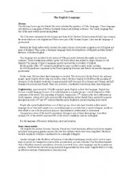 English Worksheets: english language