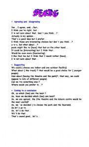 English Worksheet: speaking PET(PART 2)