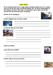 English Worksheets: CAST AWAY