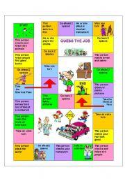 English Worksheet: Guess the job