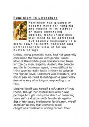 English Worksheets: feminism