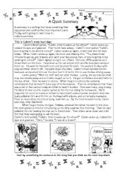 English Worksheets: A Quick Summary