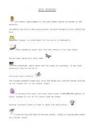English Worksheets: Fun Facts