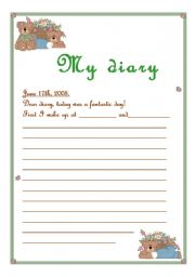 diary writing template ks1 - english teaching worksheets a diary