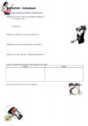English Worksheet: Rockstar by Nickelback
