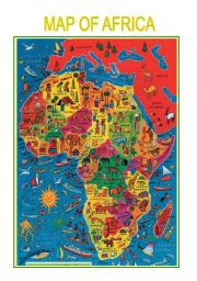 English Worksheets: Map of Africa