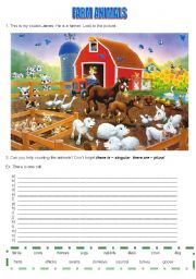 English Worksheets: farm animals
