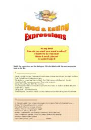 English Worksheets: Food and Eating Expressions