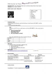 English Worksheets: Aerosmith band webquest