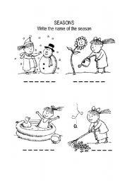seasons coloring page - 4 Seasons Coloring Page