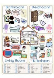 English Worksheet: Things we can find at home
