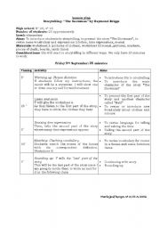 English Worksheets: lesson plan story telling