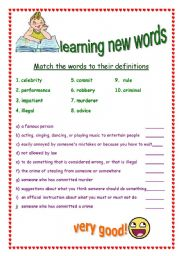 English Worksheets: Having fun with new words!