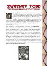 English Worksheets: Sweeney Todd