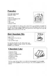 English Worksheet: RECIPES FOR KIDS