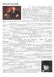 English Worksheets: Winston Churchill biography
