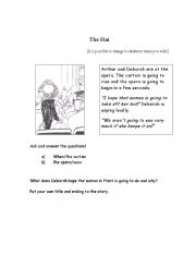 English Worksheets: The Hat