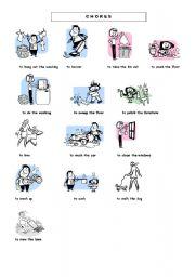 English Worksheets: chores