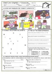 English Worksheets: GREETINGS TEST