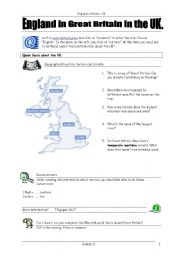 English Worksheet: Britain - ICT task