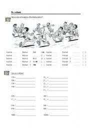 English Worksheet: ordinals