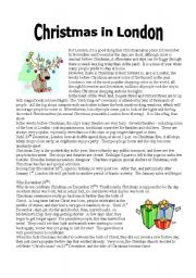 Christmas Readings.Reading Christmas In London Part 1 Esl Worksheet By