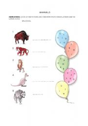 English Worksheets: Find out what animal is that!
