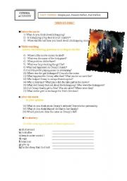 English Worksheets: MAN ON FIRE movie