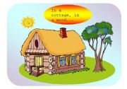 English Worksheet: In a cottage in a wood - nursery rhyme flashcards (Part 1 / 2)