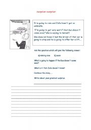 English Worksheets: Surprise! Surprise!