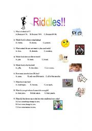 Riddles - ESL worksheet by micah