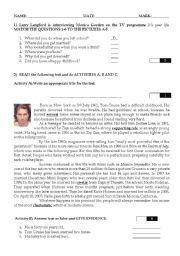 English Worksheet: Contextualised Test