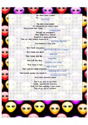 English Worksheets: The Aliens Have Landed