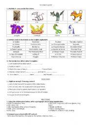 English Worksheet: harry potter