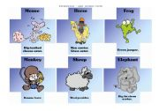 English Worksheet: Paraphrasing game - animal cards II