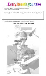 English Worksheet: SING A SONG