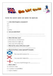 English Worksheet: the UK quiz