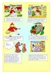 English Worksheets: LittleRedRidingHood (1/2)