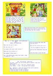English Worksheets: LittleRedRidingHood (2/2)