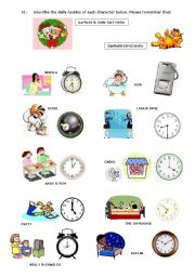 Printables Daily Schedule Worksheet english worksheets daily routine page 41 visual worksheet