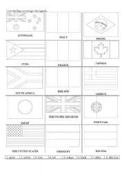 flags - ESL worksheet by gyselda